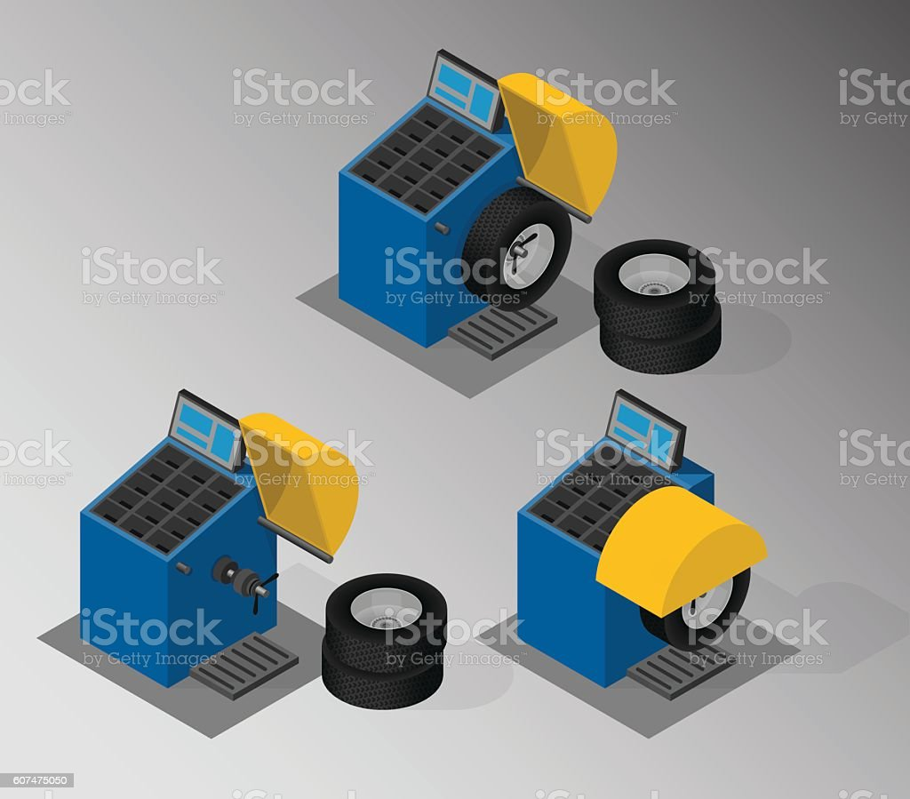 Equipment for automotive service. vector art illustration