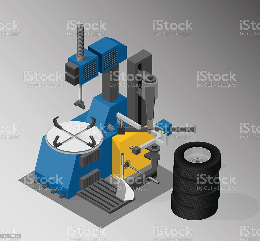 Equipment for automotive service. vector art illustration