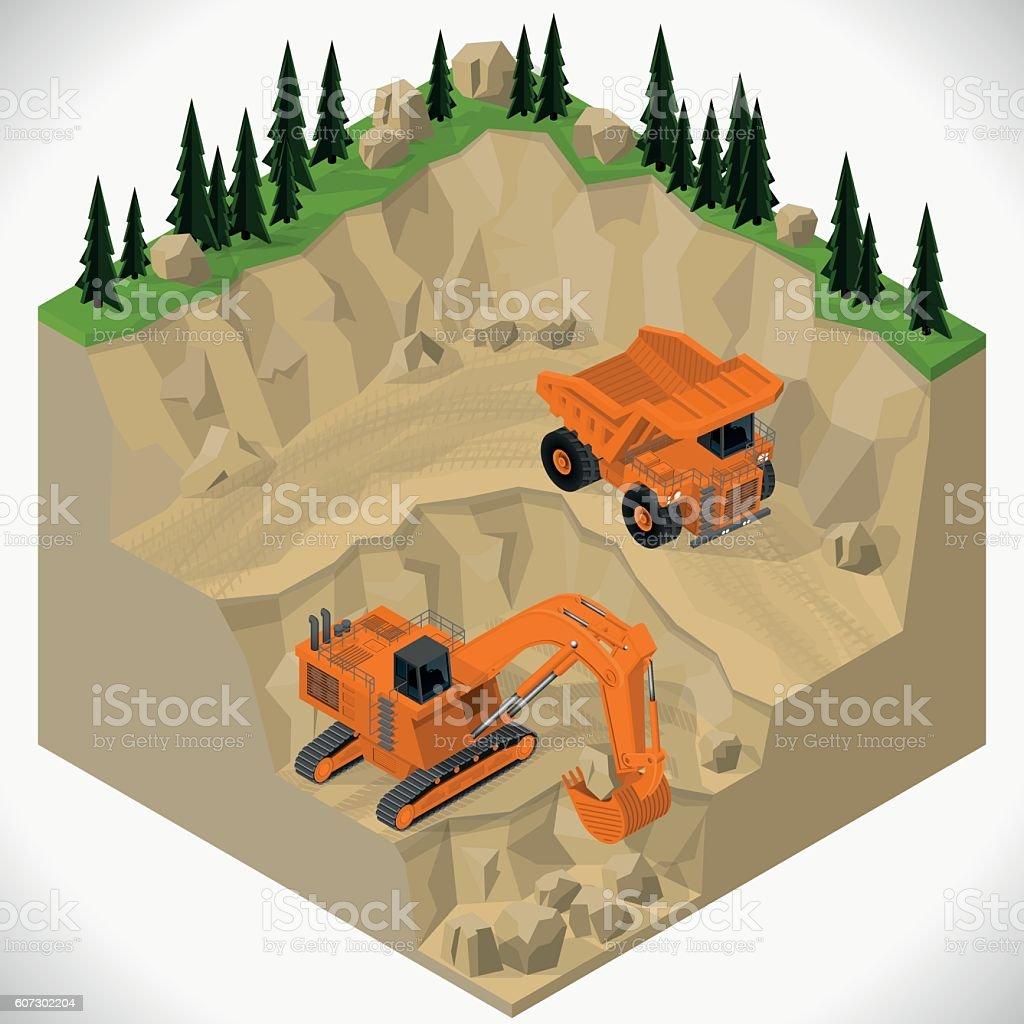 Equipment for high-mining industry. vector art illustration