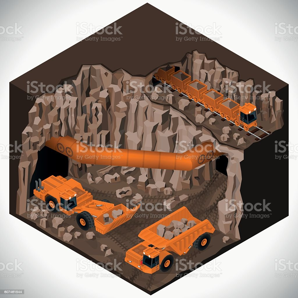 Equipment for high-mining industry. vector art illustration