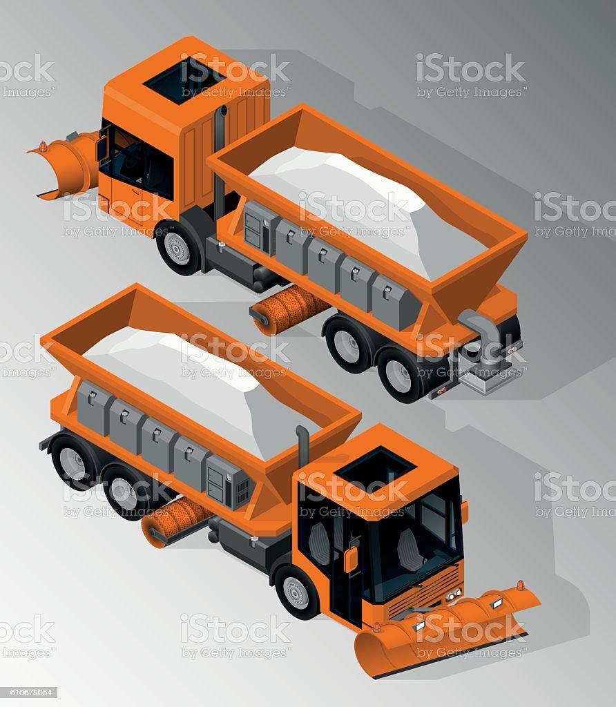 Equipment for maintenance of urban infrastructure. vector art illustration