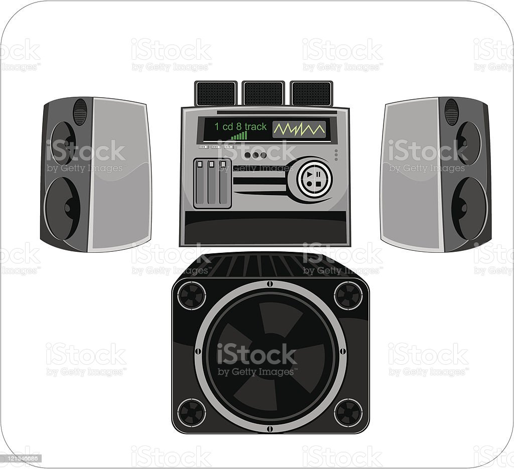 Equipment for reproducing of music royalty-free stock vector art