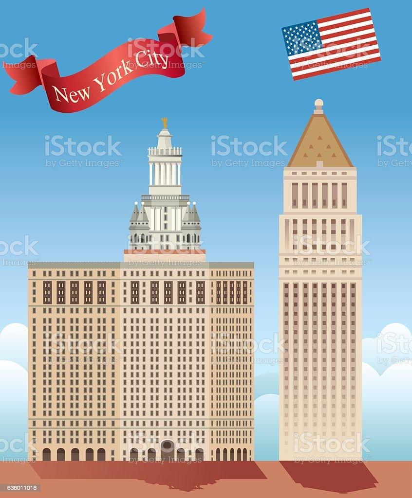 Equitable Building (Manhattan) vector art illustration