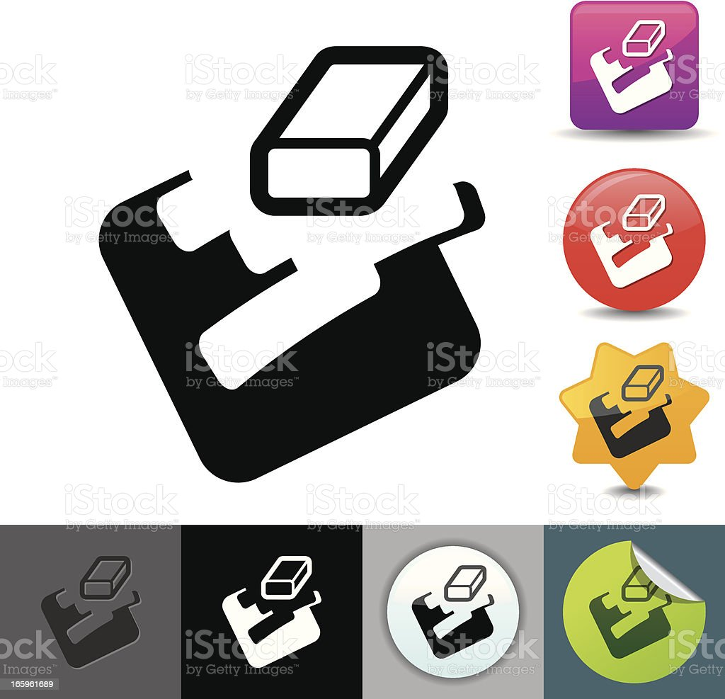 Eraser icon | solicosi series vector art illustration