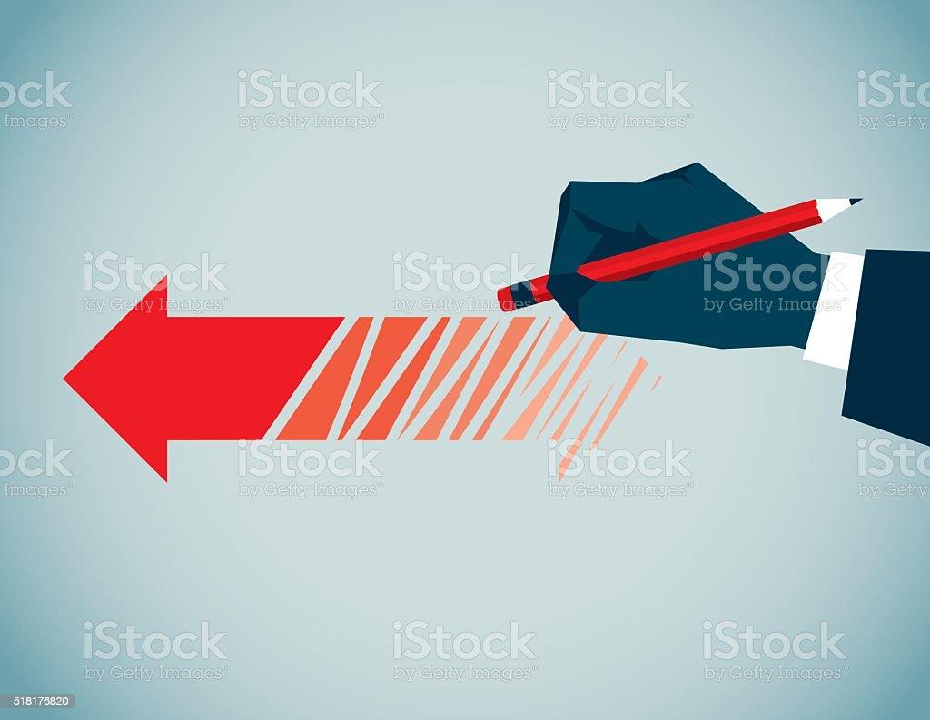 Eraser vector art illustration
