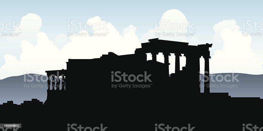 Erehtejon Silhouette royalty-free stock vector art