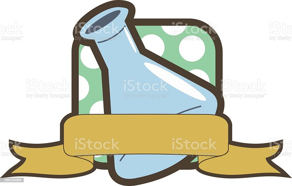 Matraz erlenmeyer vector art illustration