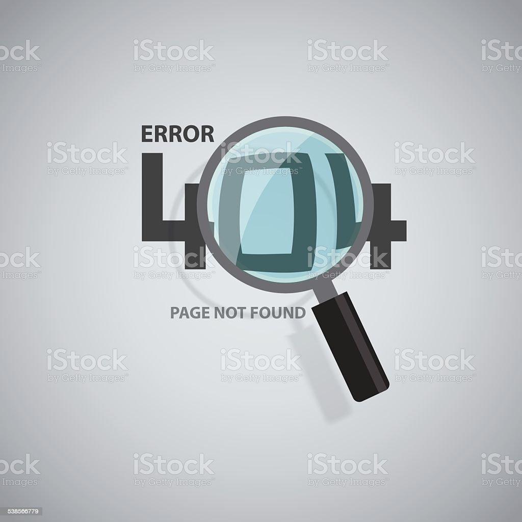Error 404 background, Vector idea concept vector art illustration