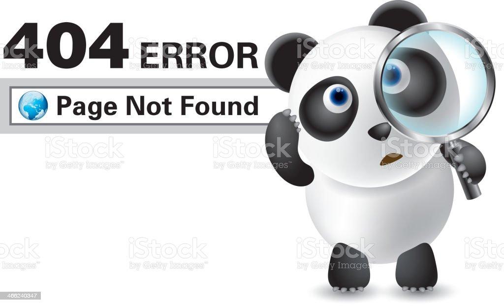 Error 404 vector art illustration