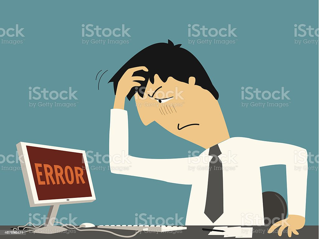 Error again vector art illustration
