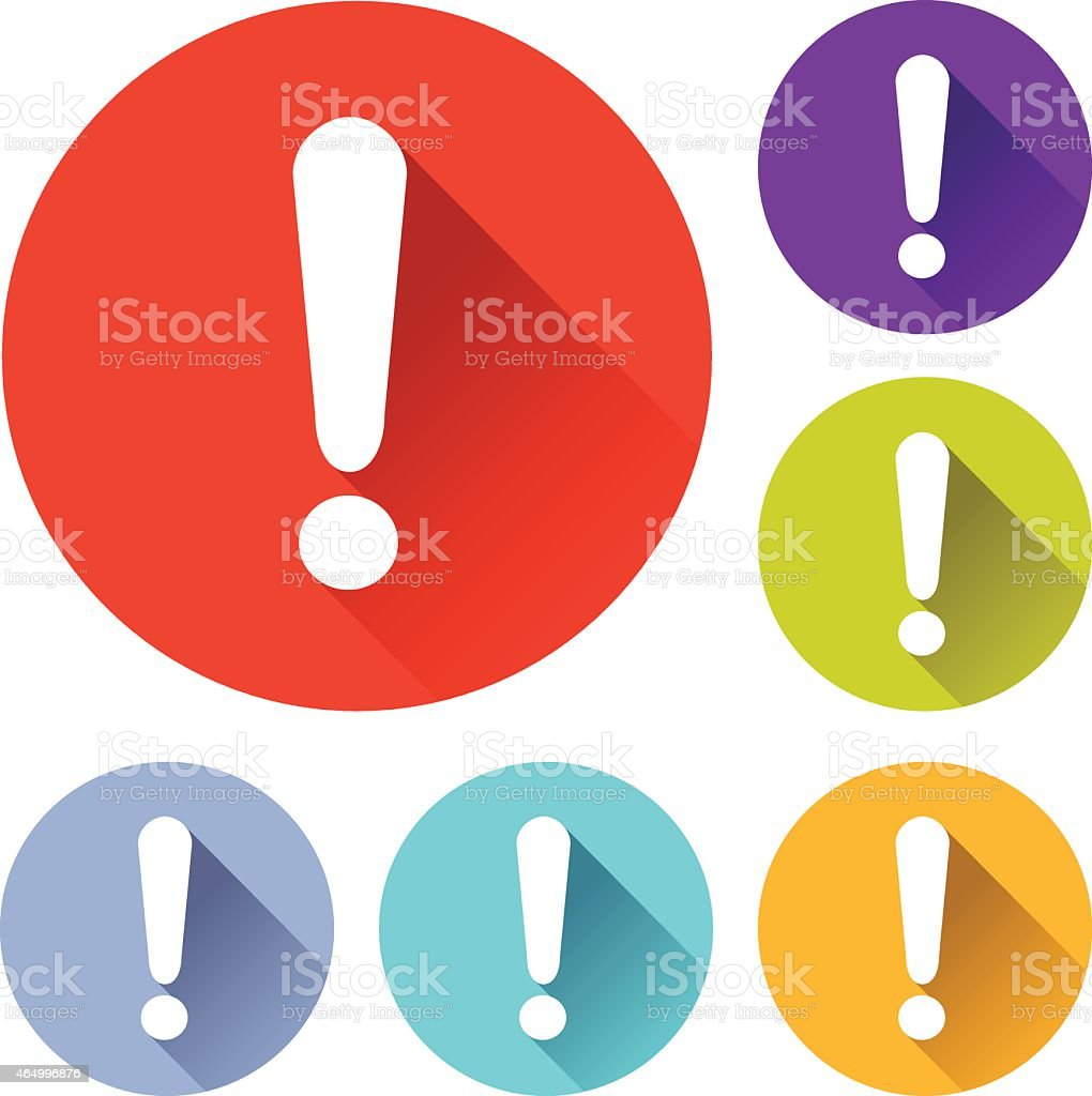 error icons vector art illustration