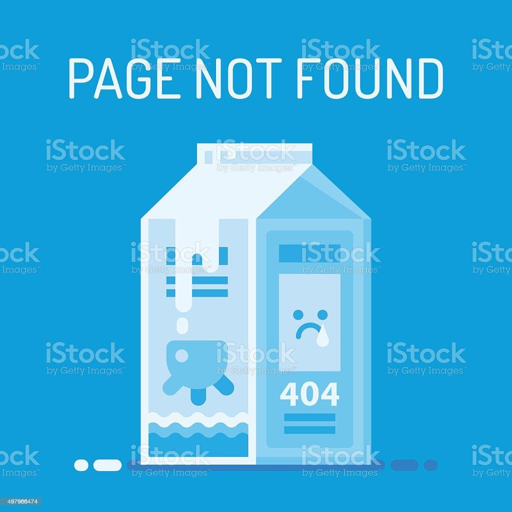 Error Page vector art illustration