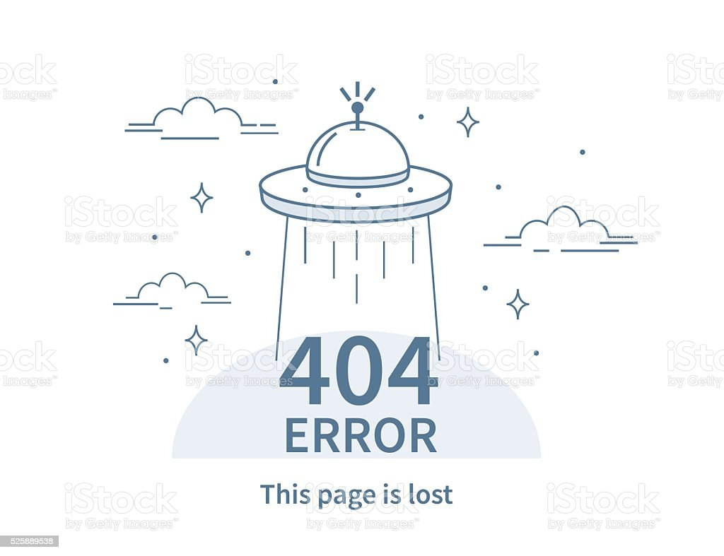 404 error vector art illustration