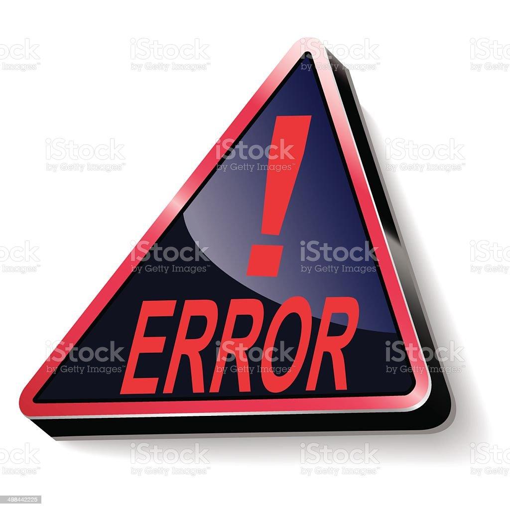 Error warning vector art illustration