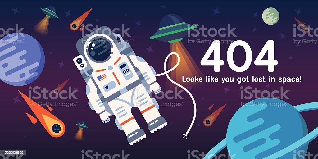 404 error web page vector art illustration