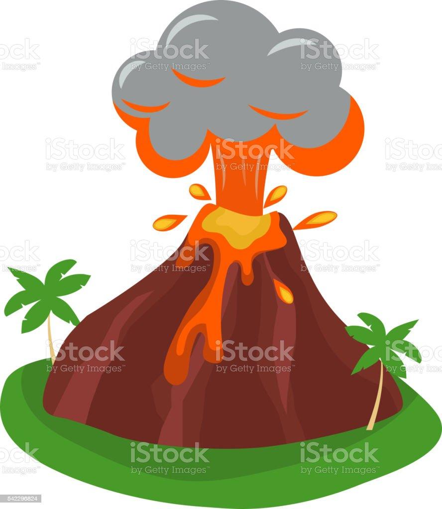 Eruption vector illustration. vector art illustration