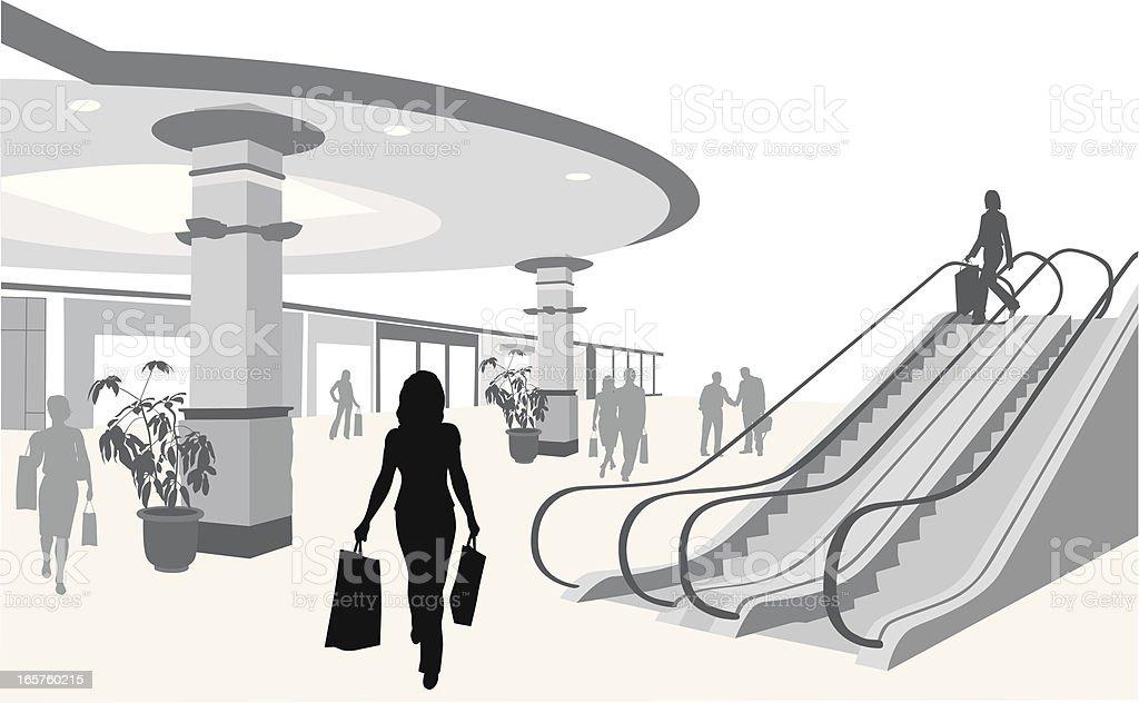 Escalation Vector Silhouette vector art illustration