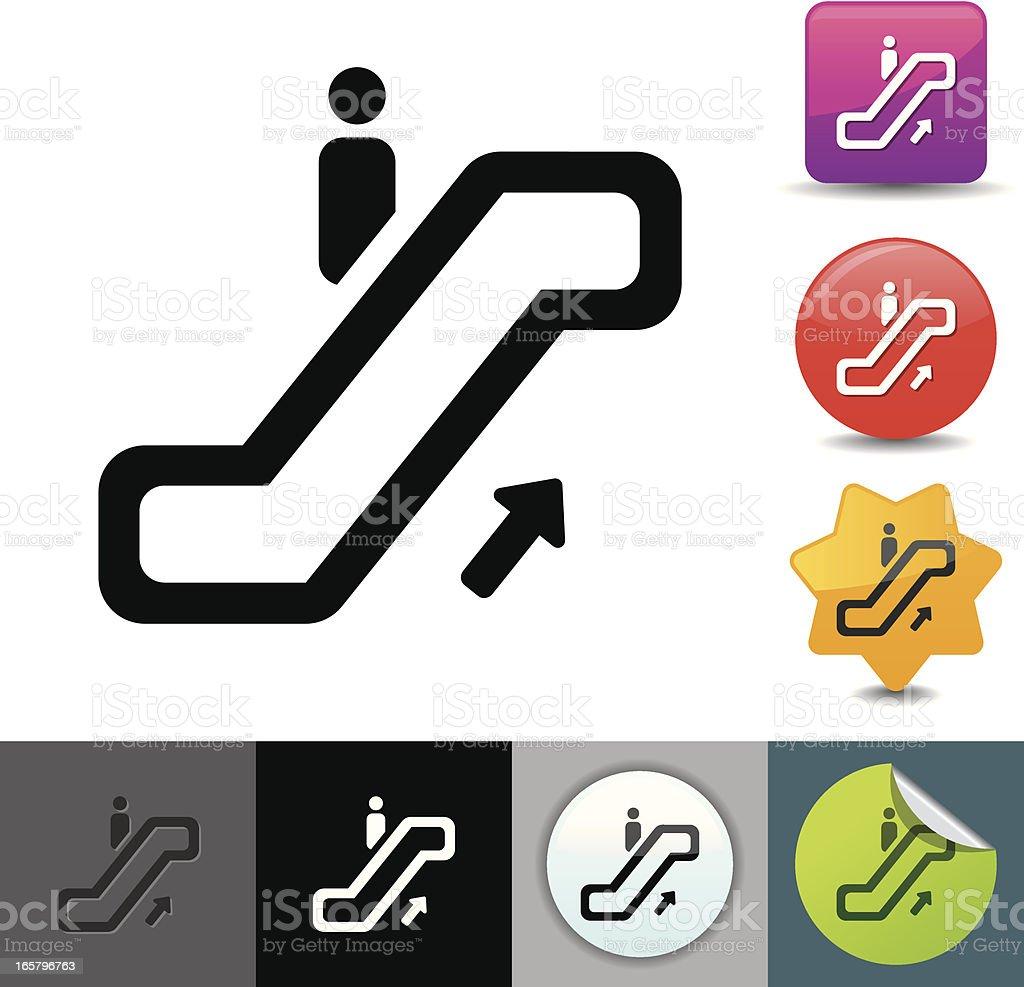 Escalator icon | solicosi series royalty-free stock vector art