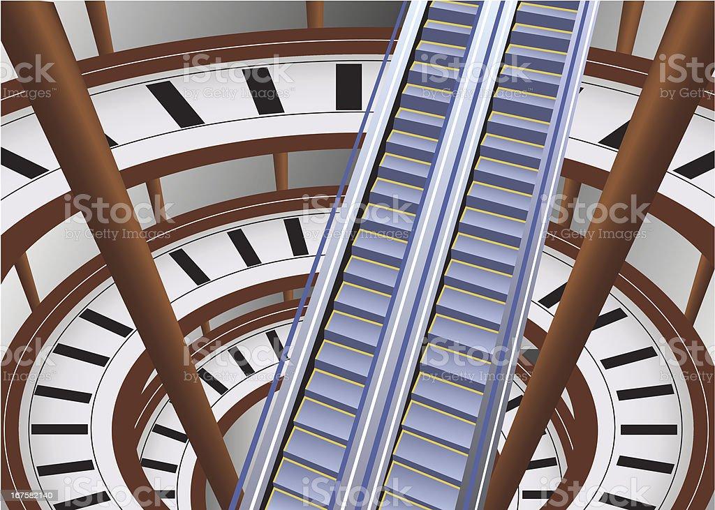escalator in shop royalty-free stock vector art