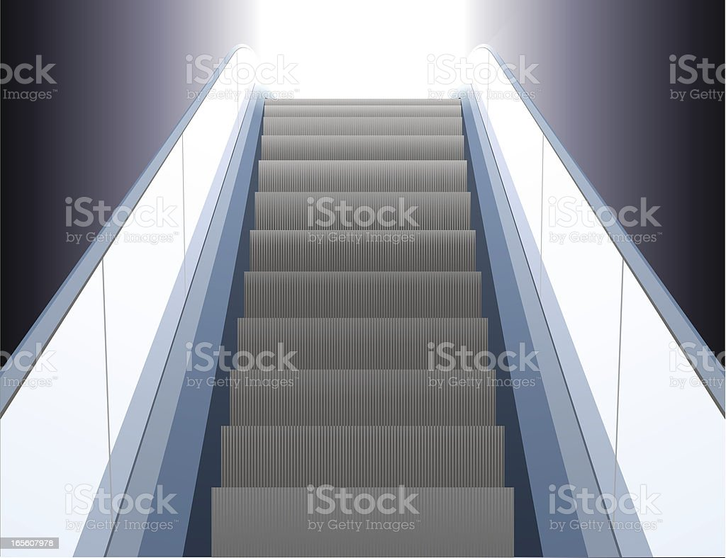 Escalator royalty-free stock vector art
