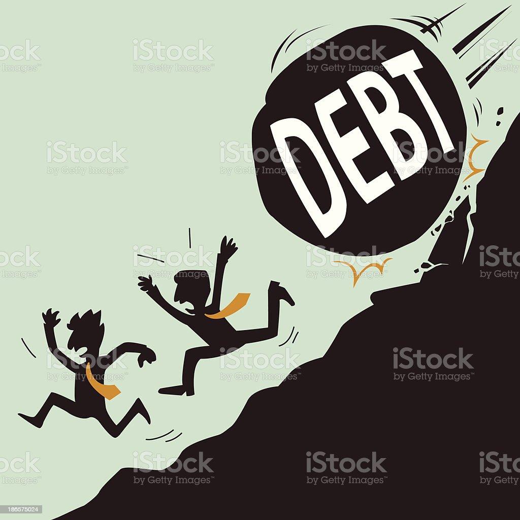 Escape from Big Debt vector art illustration