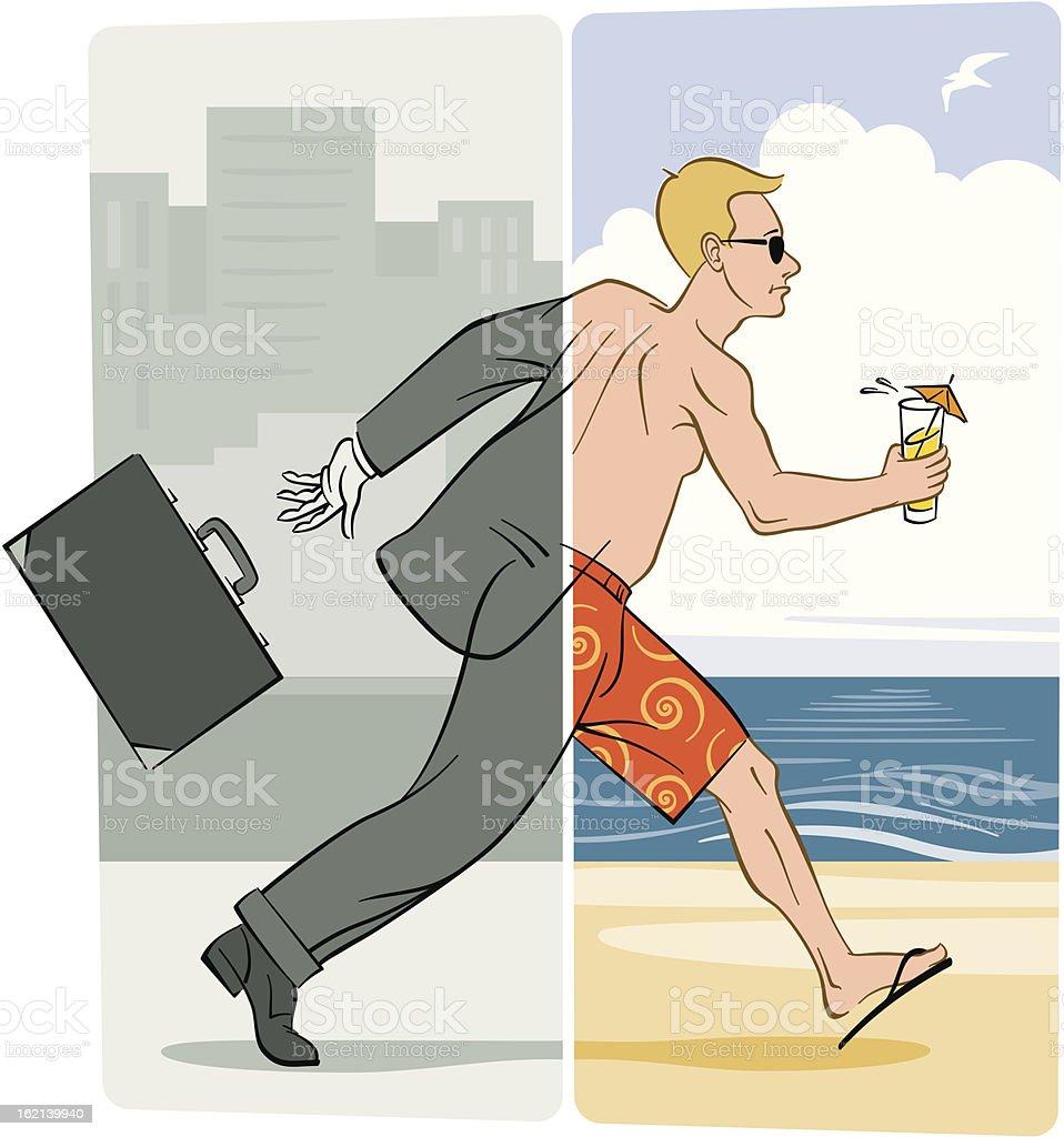 Escape royalty-free stock vector art