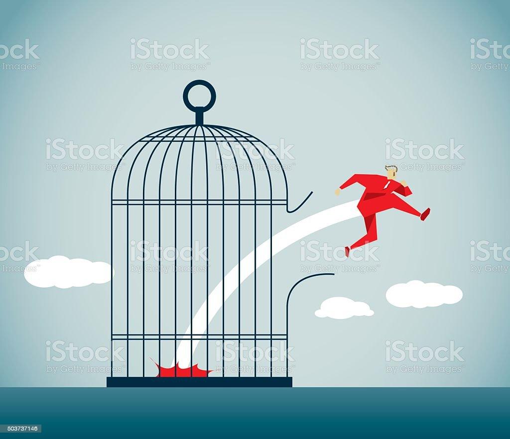Escape vector art illustration