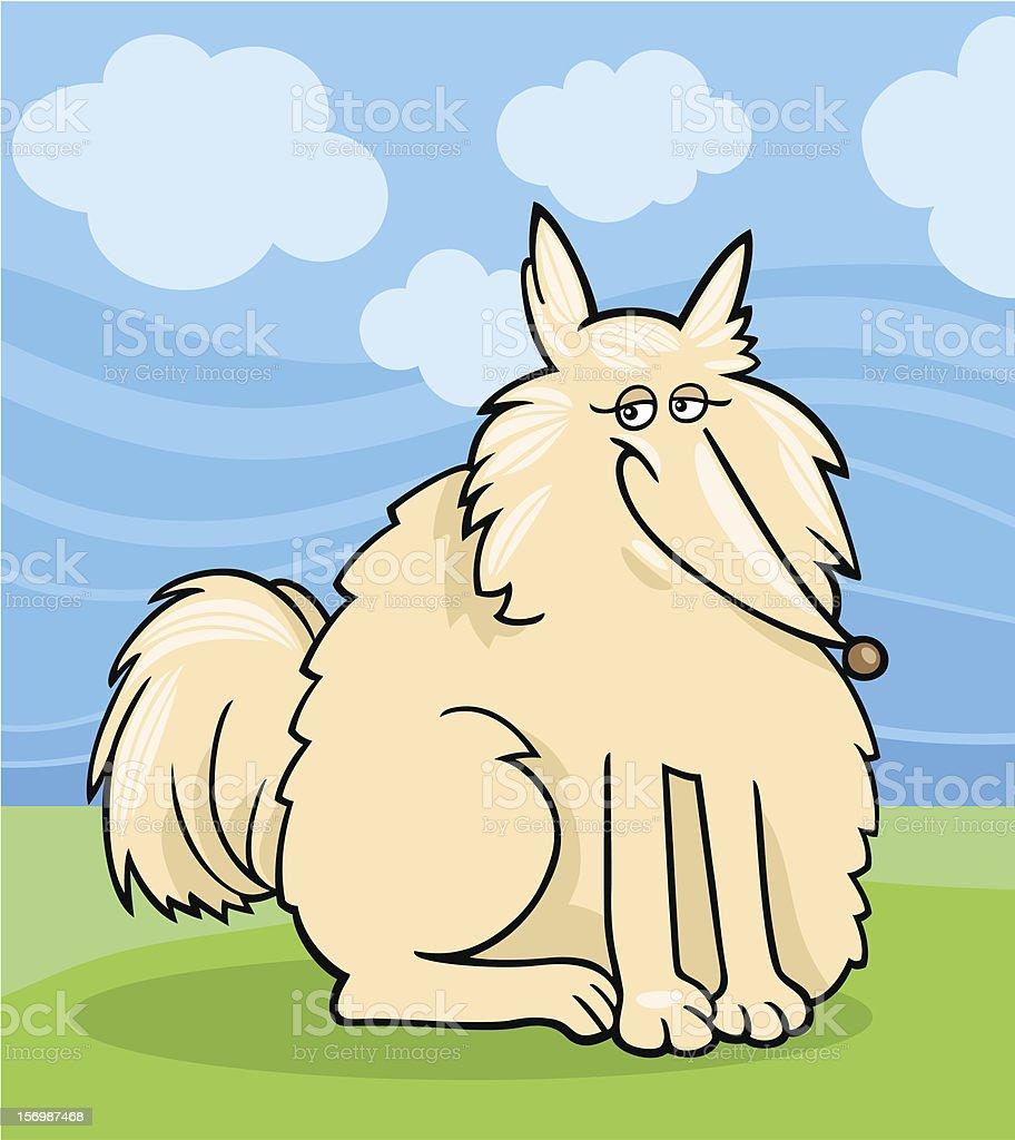 eskimo dog cartoon illustration royalty-free stock vector art