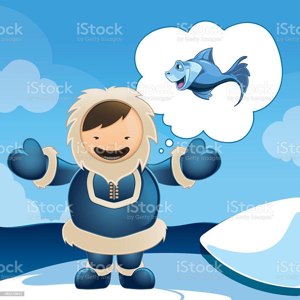 Eskimo vector art illustration