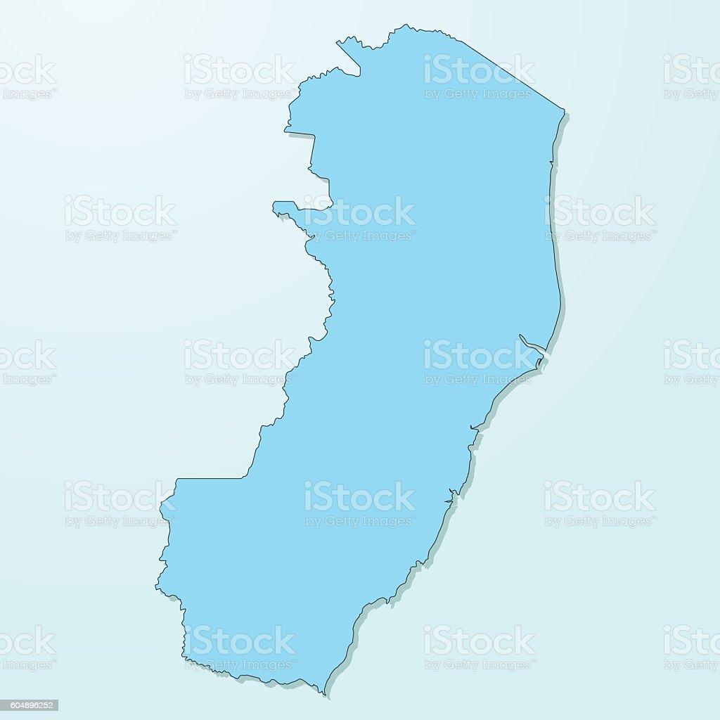 Espirito Santo blue map on degraded background vector vector art illustration