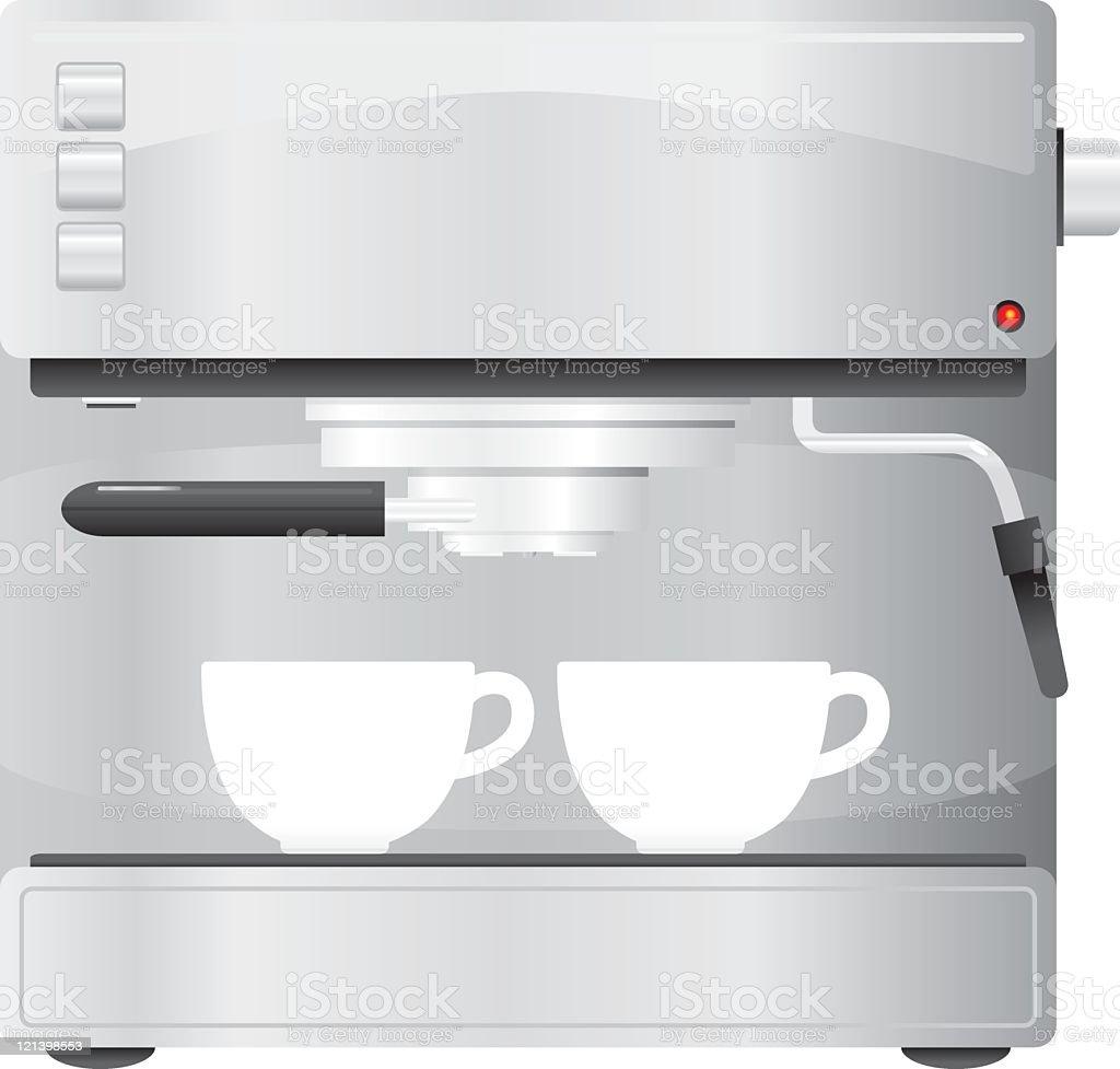 Espresso machine vector art illustration