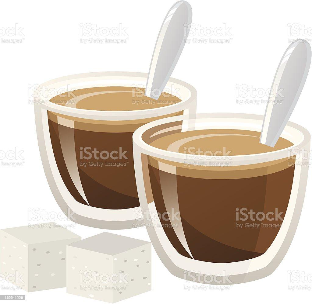 Espresso Shots royalty-free stock vector art