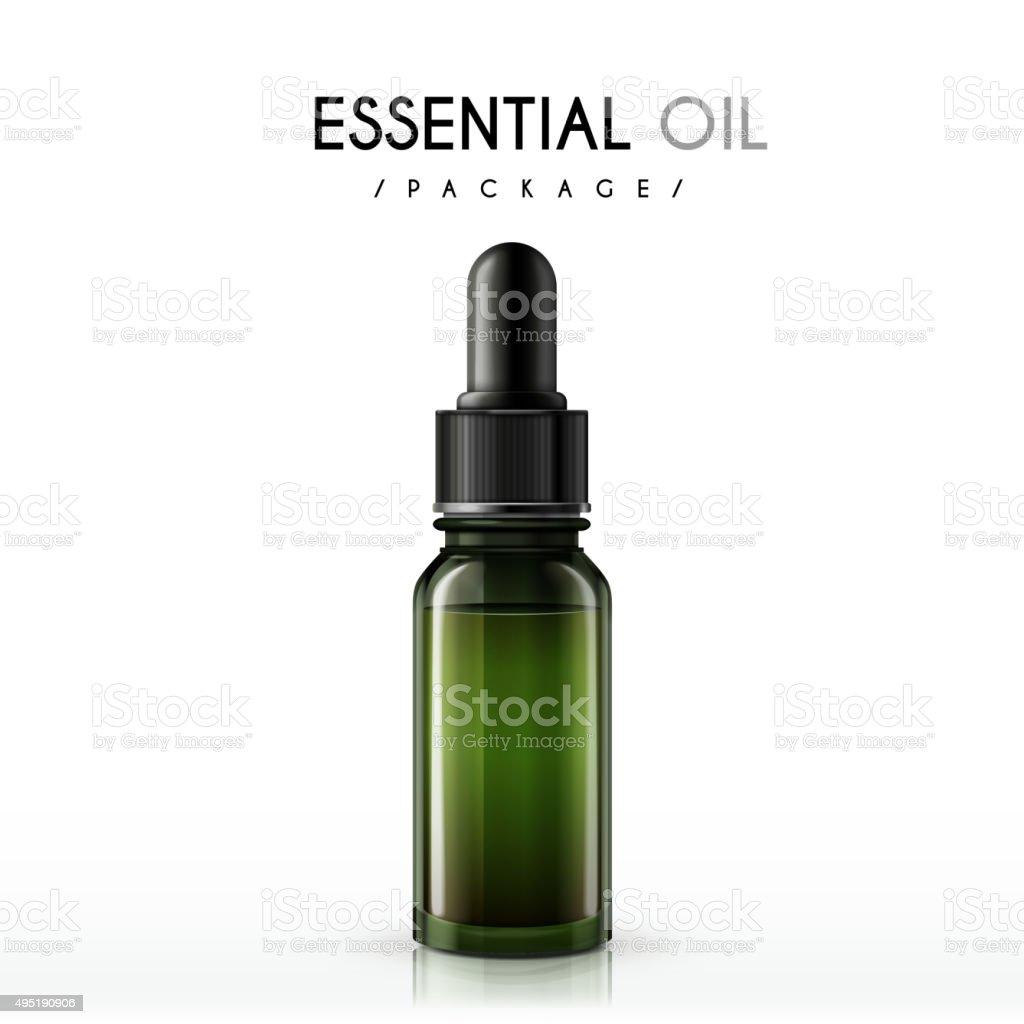essential oil package vector art illustration