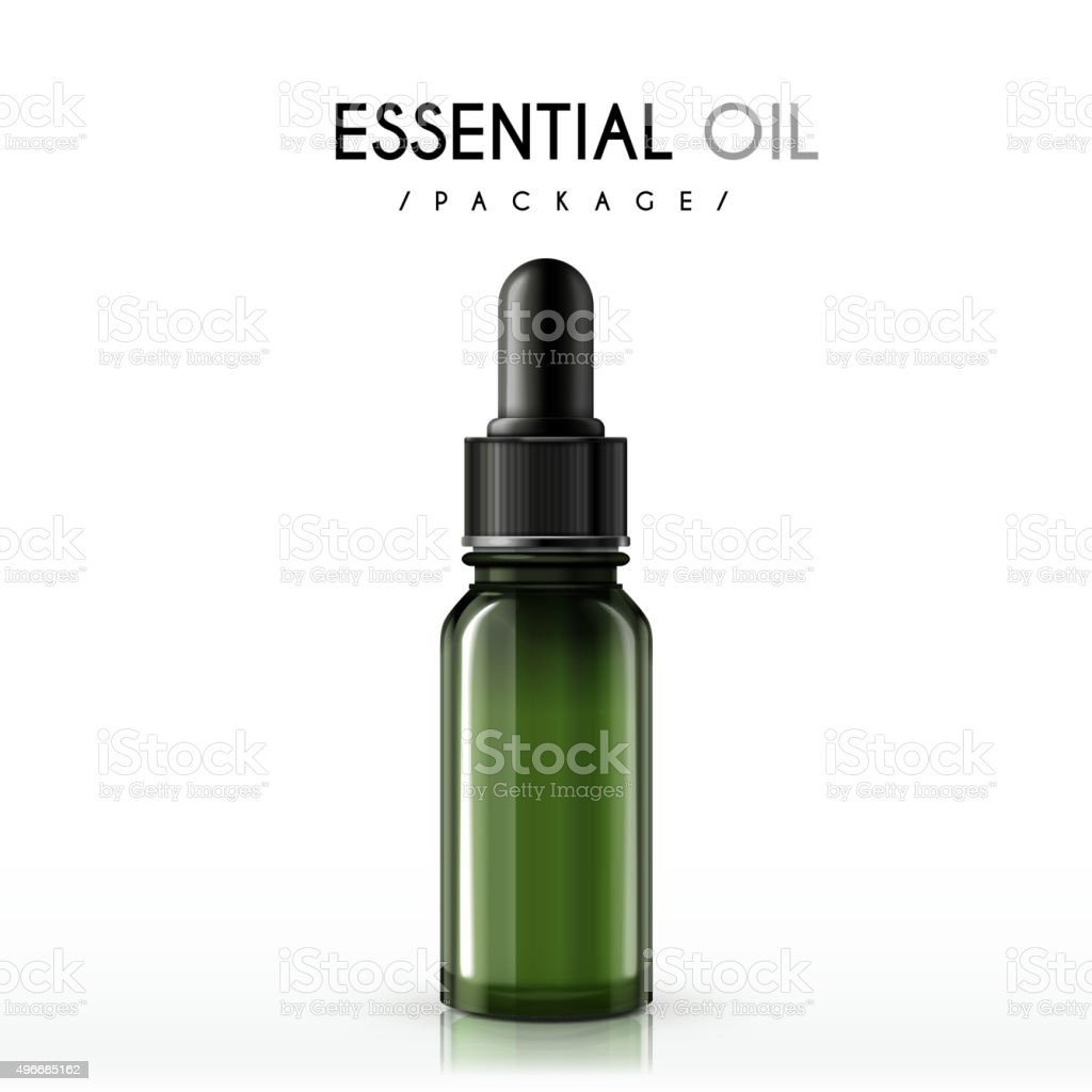 essential oil package vector art illustration