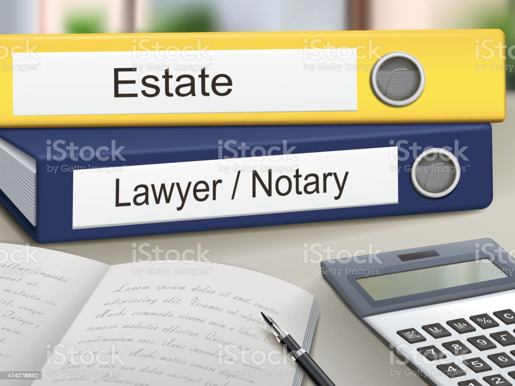 estate and lawyer/notary binders vector art illustration