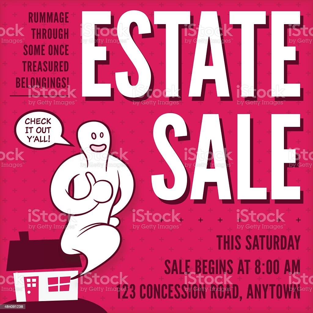 Estate Sale vector art illustration