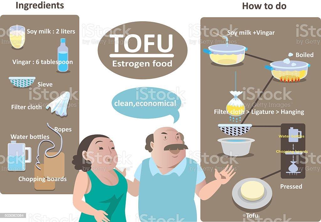 estrogen food vector art illustration