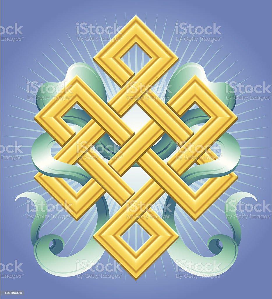 Eternal Knot royalty-free stock vector art