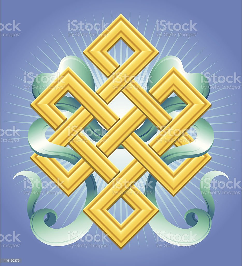 Eternal Knot vector art illustration