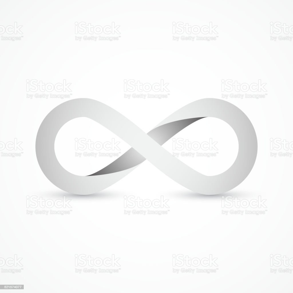 Eternity symbol vector art illustration