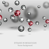 Ethane Molecules Background