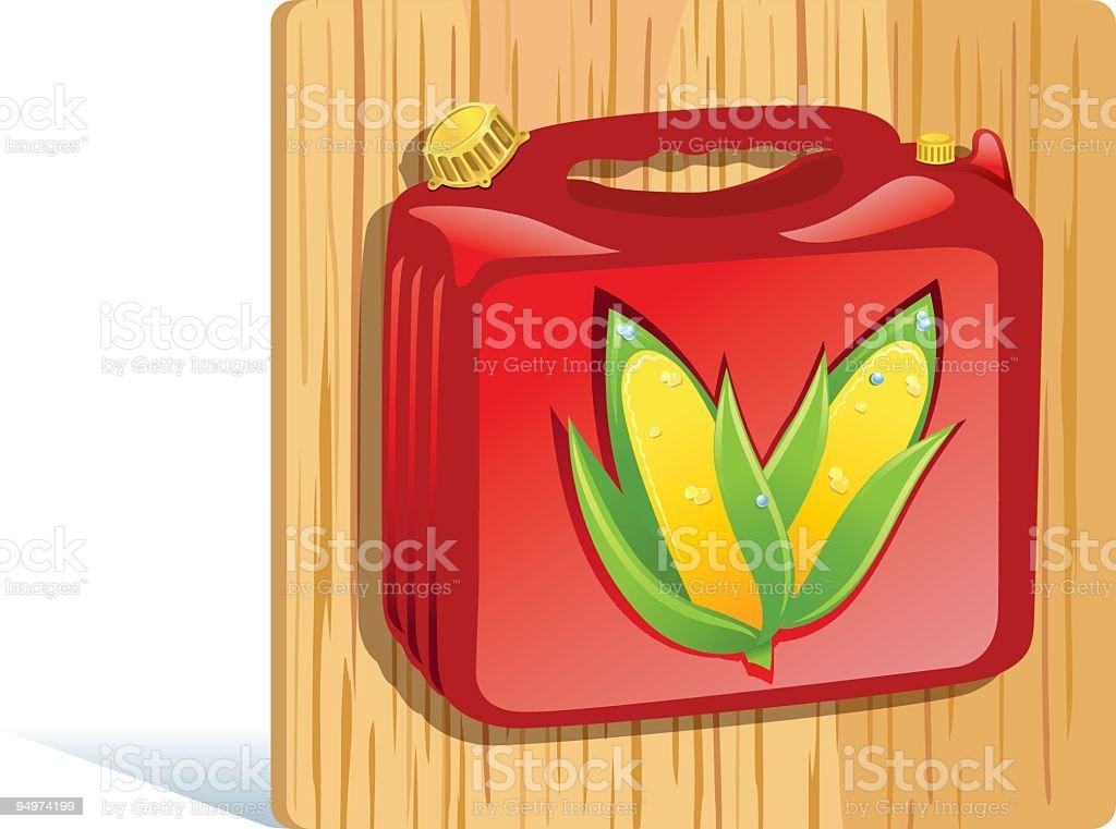 Ethanol Wood Icon vector art illustration