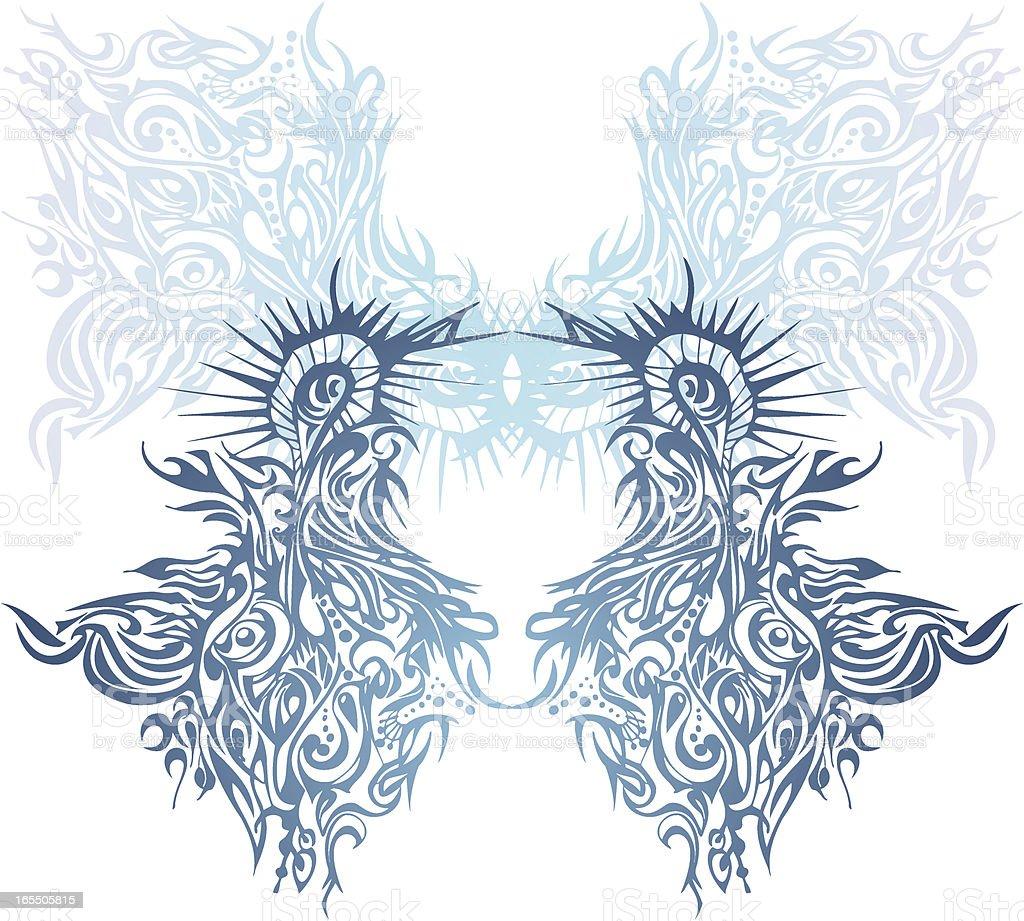 Traumartig Vögel Lizenzfreies vektor illustration