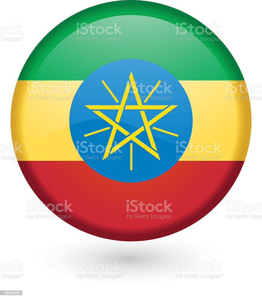 Ethiopia flag vector button royalty-free stock vector art
