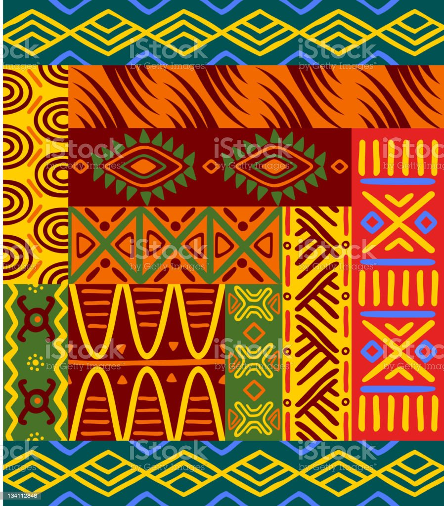 Ethnic african abstract patterns royalty-free stock vector art