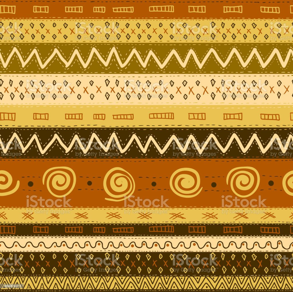 Ethnic African Seamless Background vector art illustration
