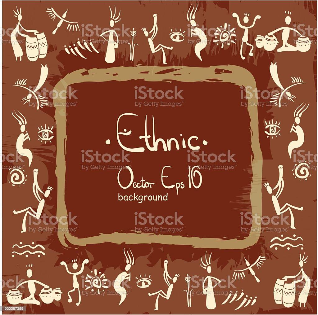 ethnic background, africa, people vector art illustration