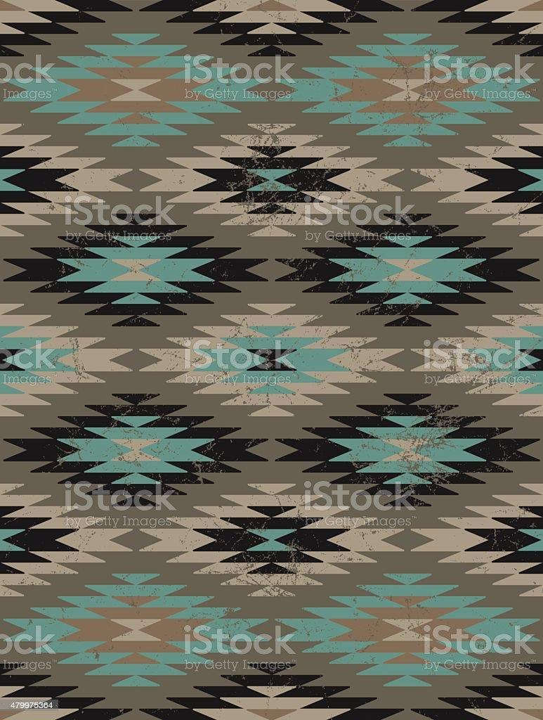 Ethnic background - Native American style vector art illustration