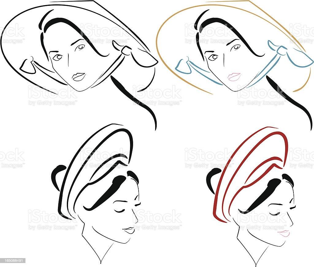 Ethnic Beauty 1 vector art illustration