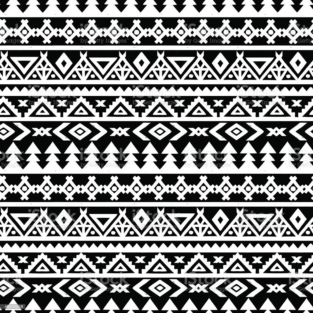 Ethnic border seamless pattern vector art illustration
